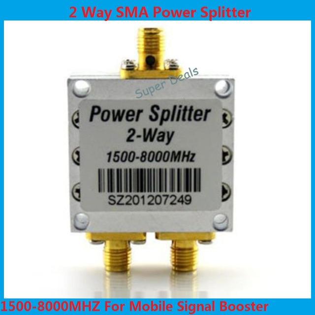 Высокое качество 1500 ~ 8000 МГц 2 Way РФ Разветвитель Питания Сумматор ж/SMA Женский Разъем Высокочастотный 1.5-8 ГГц Делитель Мощности
