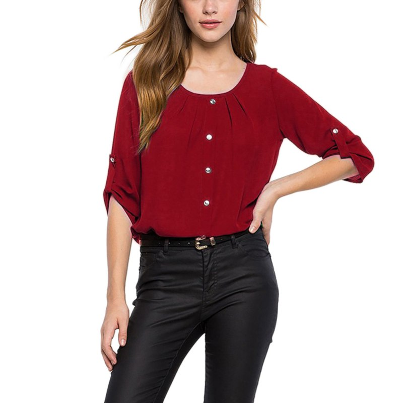 2019 Fashion   Blouse   Women Causal Women   Blouse   Ladies Round Neck Back Hollow Womens Tops And   Blouses   Elegant   Shirt   Tops