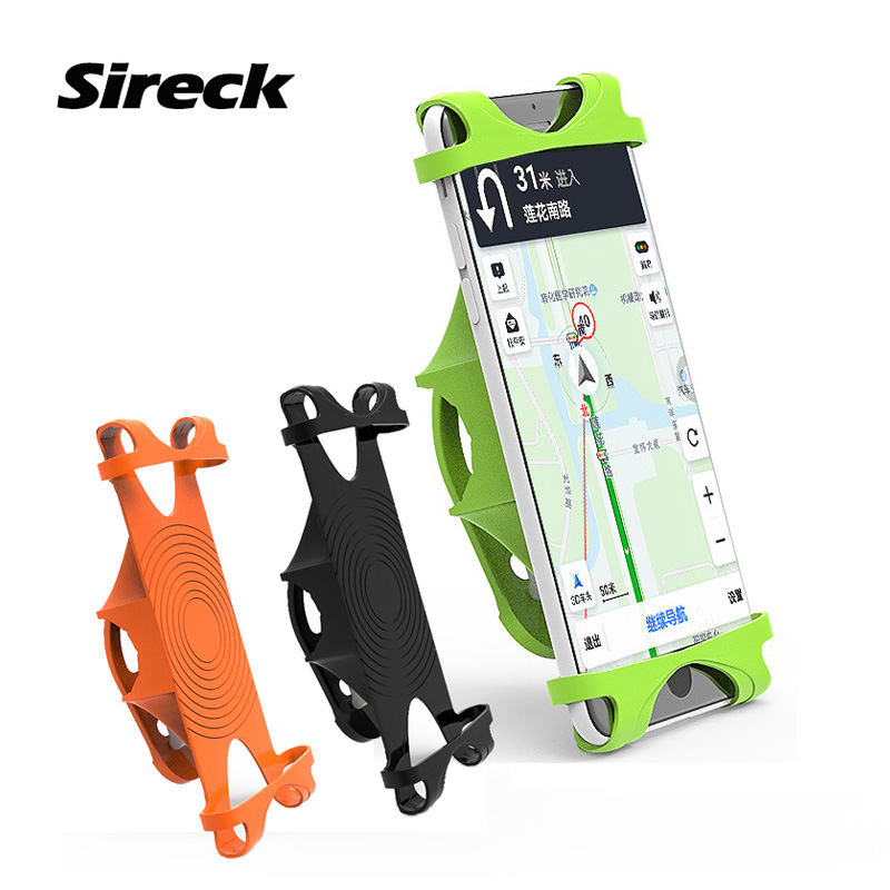Sireck Universal Bicycle Phone Holder Silicone 4-6.0 Inch Motorcycle Bike Smart Phone GPS Handlebar Holder Mount Support Stand west biking mtb bikes bicycle holder universal motorcycle phone mount bike rack mount holder for iphone cellphone gps bike stand