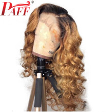 PAFF Ombre Blonde Color Wigs Full Lace Human Hair Wigs Glueless Full Lace Wigs Bleached Knots Free Part Remy Body Wave