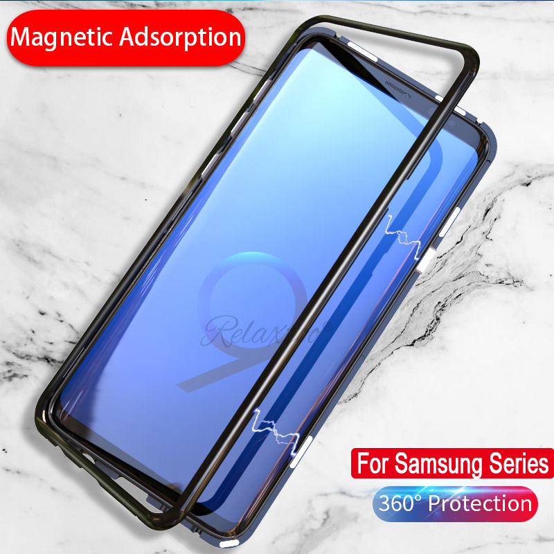 Magneto Magnetic Adsorption Metal Glass Case for Samsung