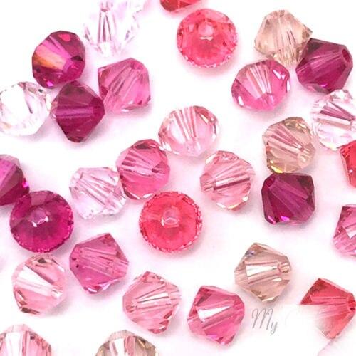 STENYA 4 мм красные стеклянные бусины Bicone форма камня ювелирные изделия фурнитура Серьги Висячие стеклянные для создания браслетов ожерелье аксессуары