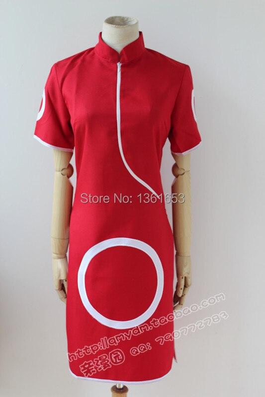 Naruto Cosplay anime sakura haruno naruto Cosplay կարմիր - Կարնավալային հագուստները - Լուսանկար 1