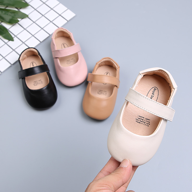 2019 New Shallow Fashion Baby Girls Princess Shoes Genuine Leather First Walkers Baby Girls 1st Party Dress Baby Moccasins