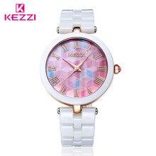 2015 известная марка розовое золото керамические часы повседневная кварц браслет женщины одеваются часы для дам горный хрусталь часы k1235