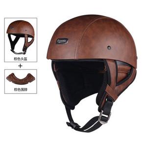 Image 2 - 1 adet 57 62cm ABS plastik motosiklet Helm motokros Capacete yarım kask Retro mat parlak siyah