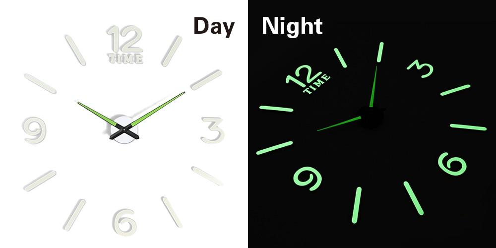 27 различных дизайнов светящиеся настенные часы современный дизайн настенные цифровые большие Big3D DIY модные Saat Reloj Horloge klok