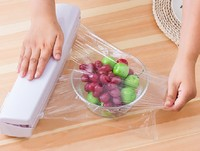 1PC Wraptastic Dispenser Plastic Wrap Preservative Film Cutter Cutting Foil Or Cling Wrap Kitchen Accessories KX