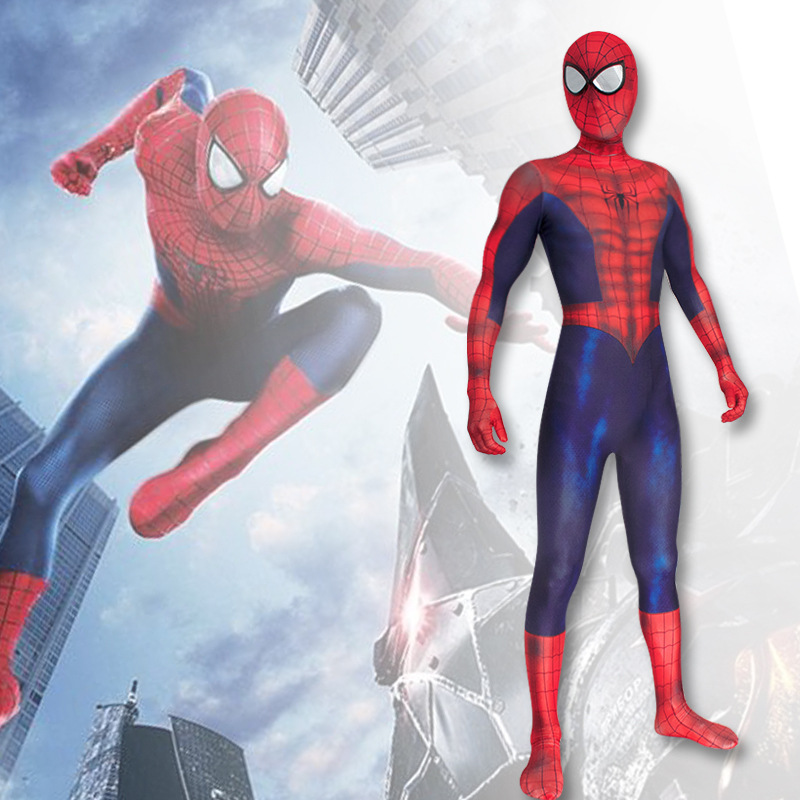 Spider Man Cosplay Costume Jumpsuit Adult The Amazing Spider-Man Bodysuit Tights Zentai Halloween Cosplay Costume One-pieces