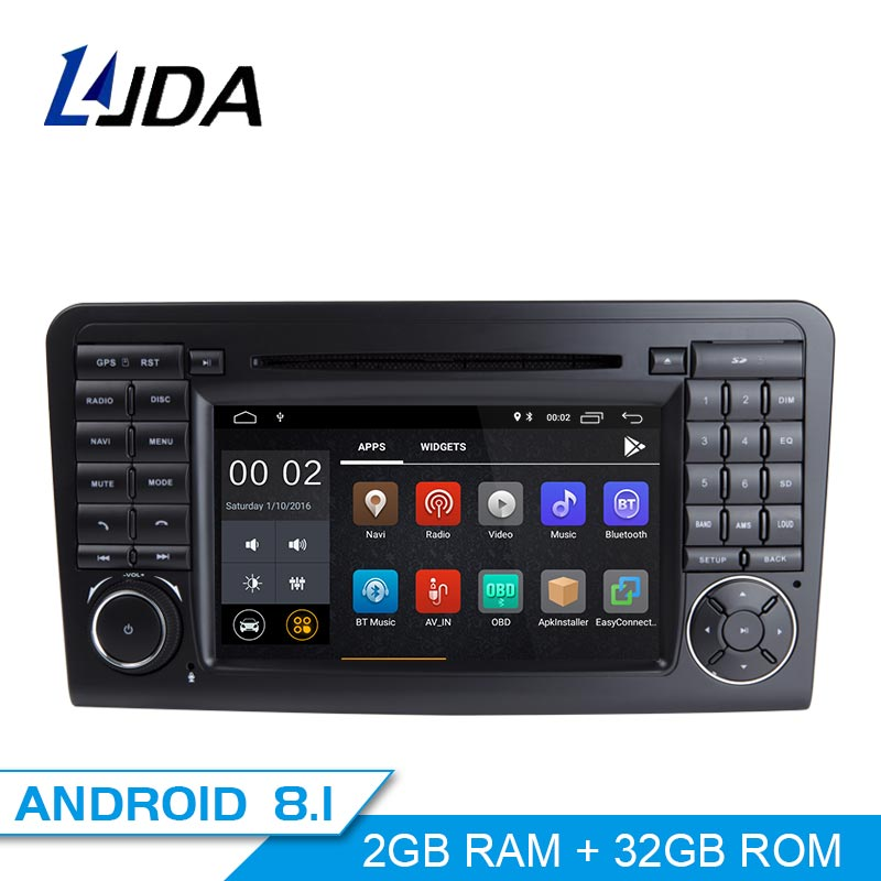 LJDA 2 Din Android 8.1 Car Radio For Mercedes Benz ML CLASS W164 ML350 ML300 Car Multimedia Player Stereo Audio GPS DVD WIFI IPS все цены