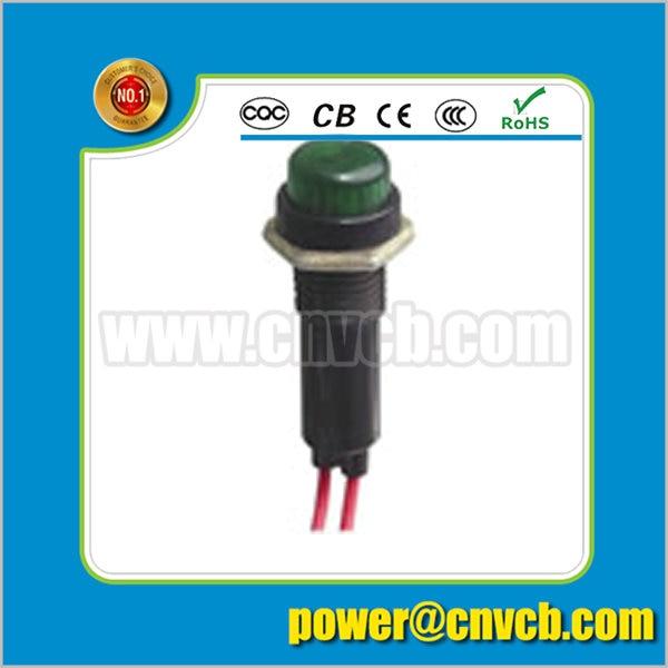 ZS144 10mm diameter wire lead green 12V/110V/220V pilot lamp indicator