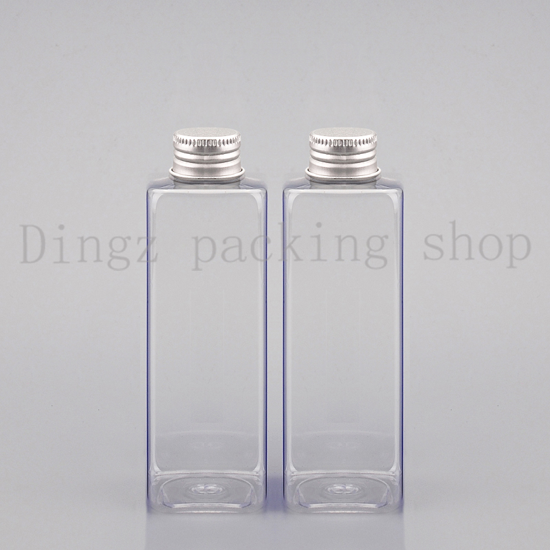 US $31 1 6% OFF|30pcs/lot 250ml aluminum cap Square bottle, flower water  bottles, refillable bottles,small plastic bottles-in Refillable Bottles  from