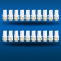 20Pcs Super White T10 Wedge 5SMD 5050 Car Auto LED Light bulbs W5W led 2825 158 New car light
