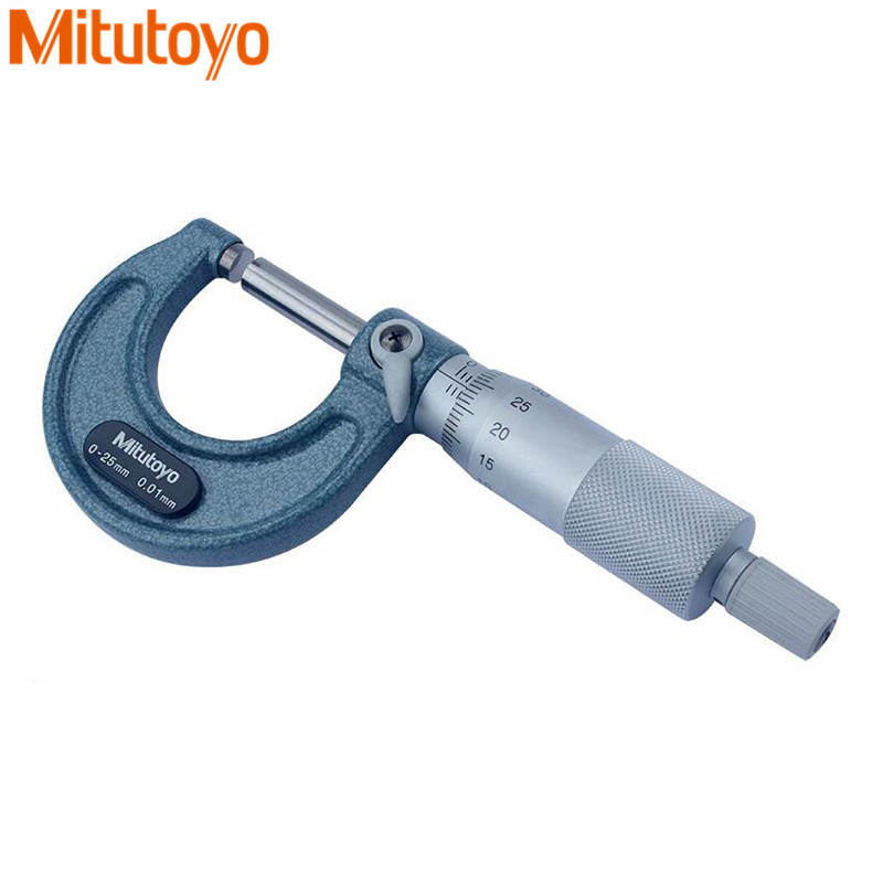 Mitutoyo Outside Micrometer 103-137/138/139/140/129/130 Gauge Calipers 0-25-50-75-100mm Precision 0.01/0.001mm Measuring Tools цена