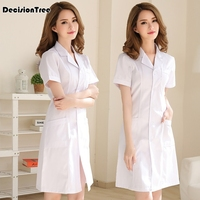 2019 women's hospital nursing uniforms overalls gowns outfit suits white coat lab coat medical technician