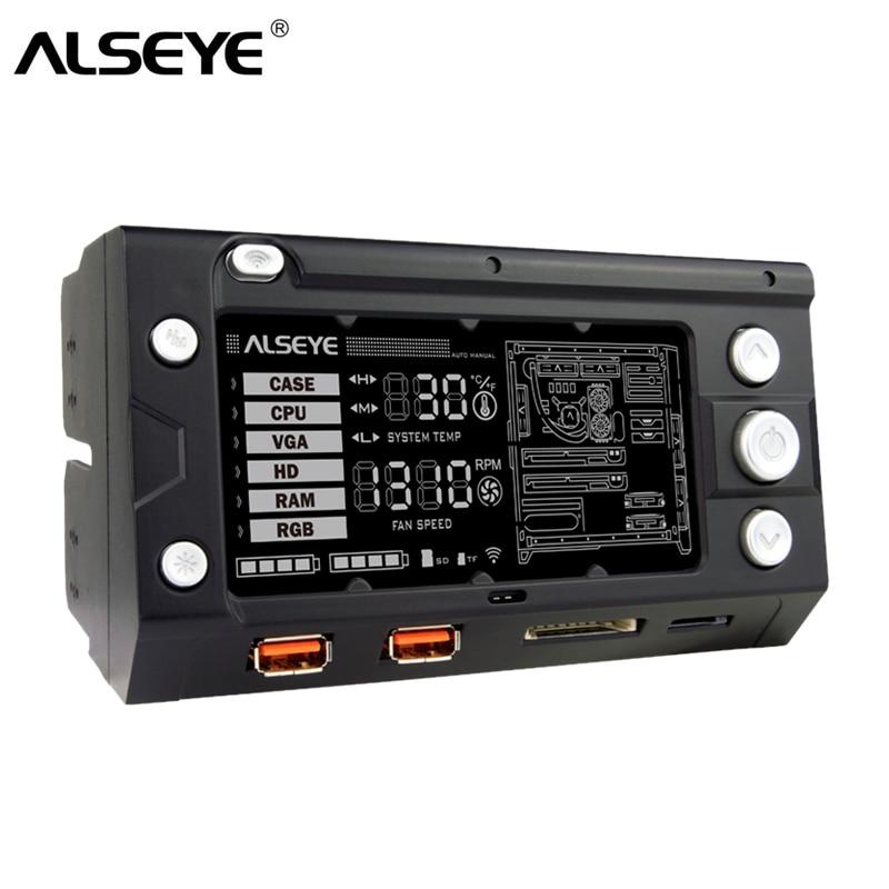 ALSEYE X-200 Fan Controller PC-fläkthastighet och RGB-kontroller - Datorkomponenter