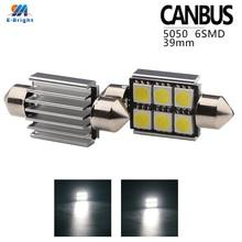 50pcs 39mm C5W C10W canbus no error Festoon 8 led 5050 smd Car Licence Plate Light Auto Interior Dome lamp Reading Lights
