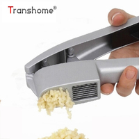 Transhome 1Pcs Multifunction 2 In 1 Stainless Steel Color Garlic Press Gadgets Cooking Tools Kitchen Gadgets