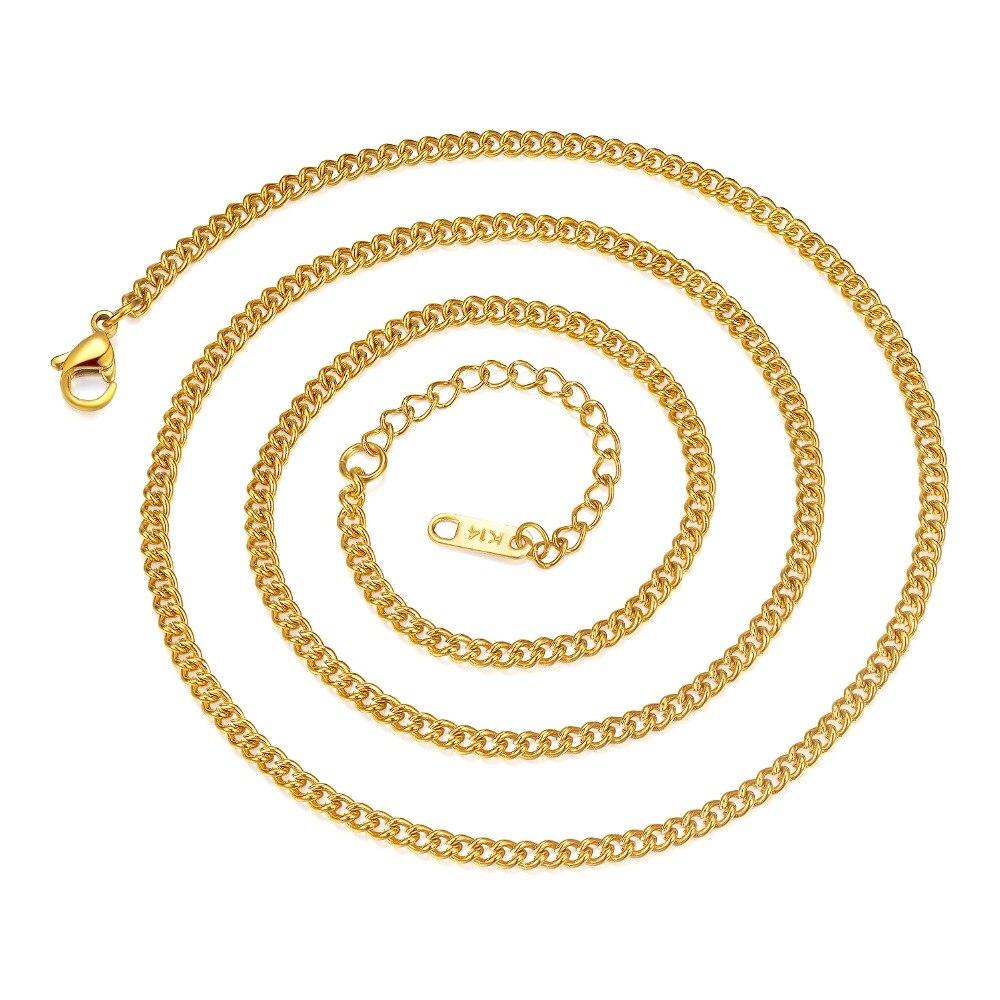 Vintage Fashion Chain Necklace 24 inch For Men Women Long Necklace 3MM Wide Titanium Steel Link Chain Men Necklaces Gifts