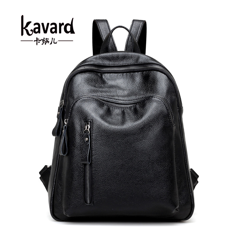 Kavard Fashion Backpack Women School Bags for Teenager Black Small Backpacks High Quality Girls Spring PU Leather Back Pack 2017 2017 new women backpacks fashion black soft leather multifunction zipper school bags for teenager girls female travel back pack