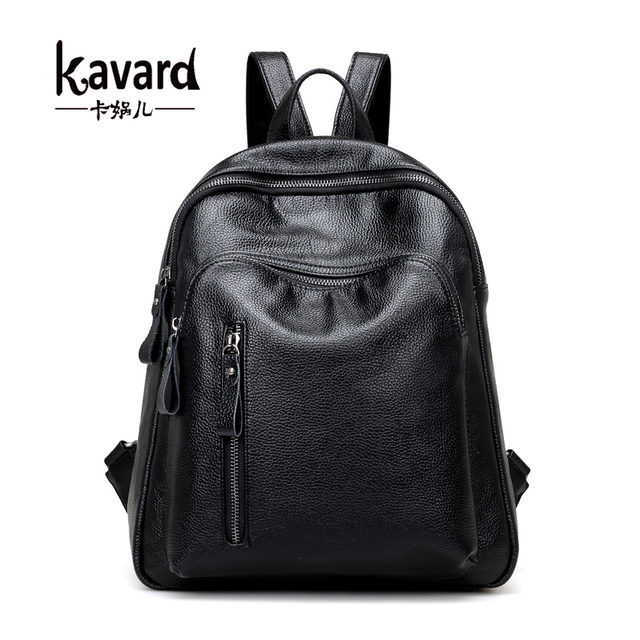 a74dd39b739 Kavard Fashion Backpack Women School Bags for Teenager Black Small Backpacks  High Quality Girls Spring PU Leather Back Pack 2017