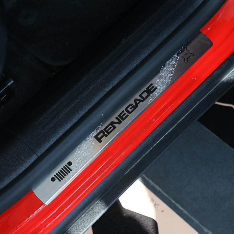 Za Jeep Renegade 2015 2016 2017 zaščitna plošča za zaščito pred - Dodatki za notranjost avtomobila - Fotografija 4