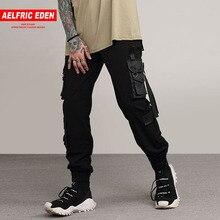Aelfric Eden harén lápiz Pantalones Hombre Pantalones activo Casual  Pantalones de bolsillos cintas Hip Hop pantalón hombre Skate. de789519d75