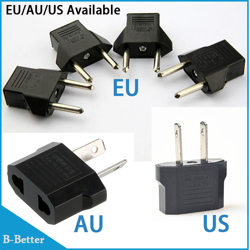 500pc Universal Us Eu Au Plug Usa To Euro Travel Wall Ac Charger 2 Pins Electrical Converter