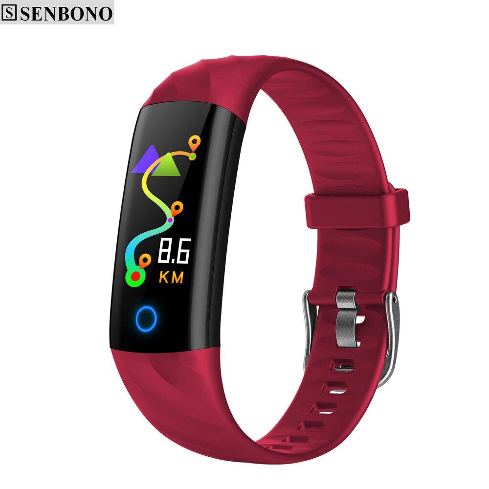 SENBONO S5 Smart Band Sport watch IP68 Waterproof Heart Rate Fitness Bracelet Blood Pressure Monitor Activity Tracker for IOS