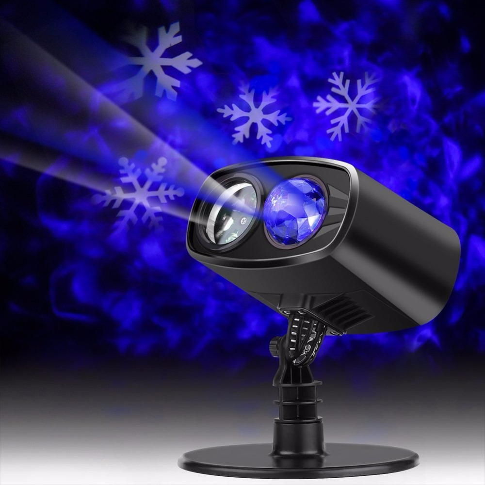 Outdoor Waterproof Christmas Snow Falling LED Kaleidoscope Ocean Wave Light Projector for Xmas Halloween Carnival Party Decor 4w snow love kaleidoscope led stage lamp light logo light