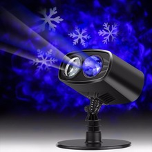 Outdoor Waterproof Christmas Snow Falling LED Kaleidoscope Ocean Wave Light Projector for Xmas Halloween Carnival Party Decor