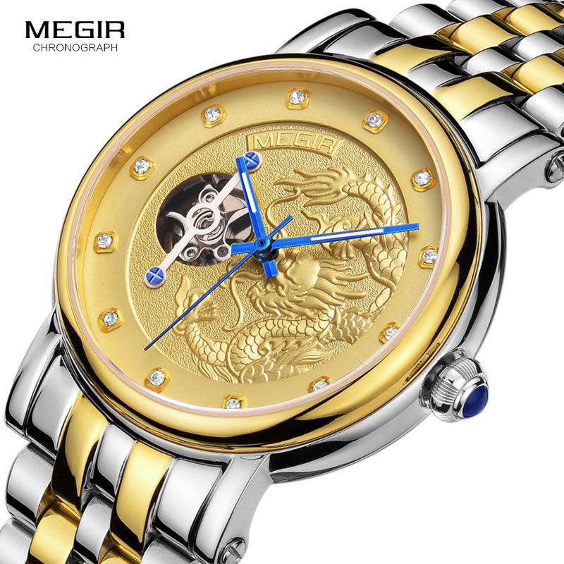 Luxury Dragon Skeleton Automatic Mechanical Watches For Men Wrist Watch Stainless Steel Strap Gold Clock Waterproof Mens relogioLuxury Dragon Skeleton Automatic Mechanical Watches For Men Wrist Watch Stainless Steel Strap Gold Clock Waterproof Mens relogio