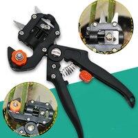1 unids máquina de injerto herramientas de jardín con 2 hojas herramientas de injerto de árbol tijeras herramienta de injerto cutting pruner