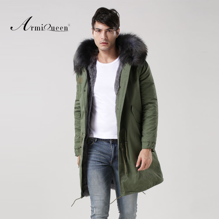 Мужская куртка, заводская цена, армейская зеленая ткань с серой подкладкой, мужская куртка