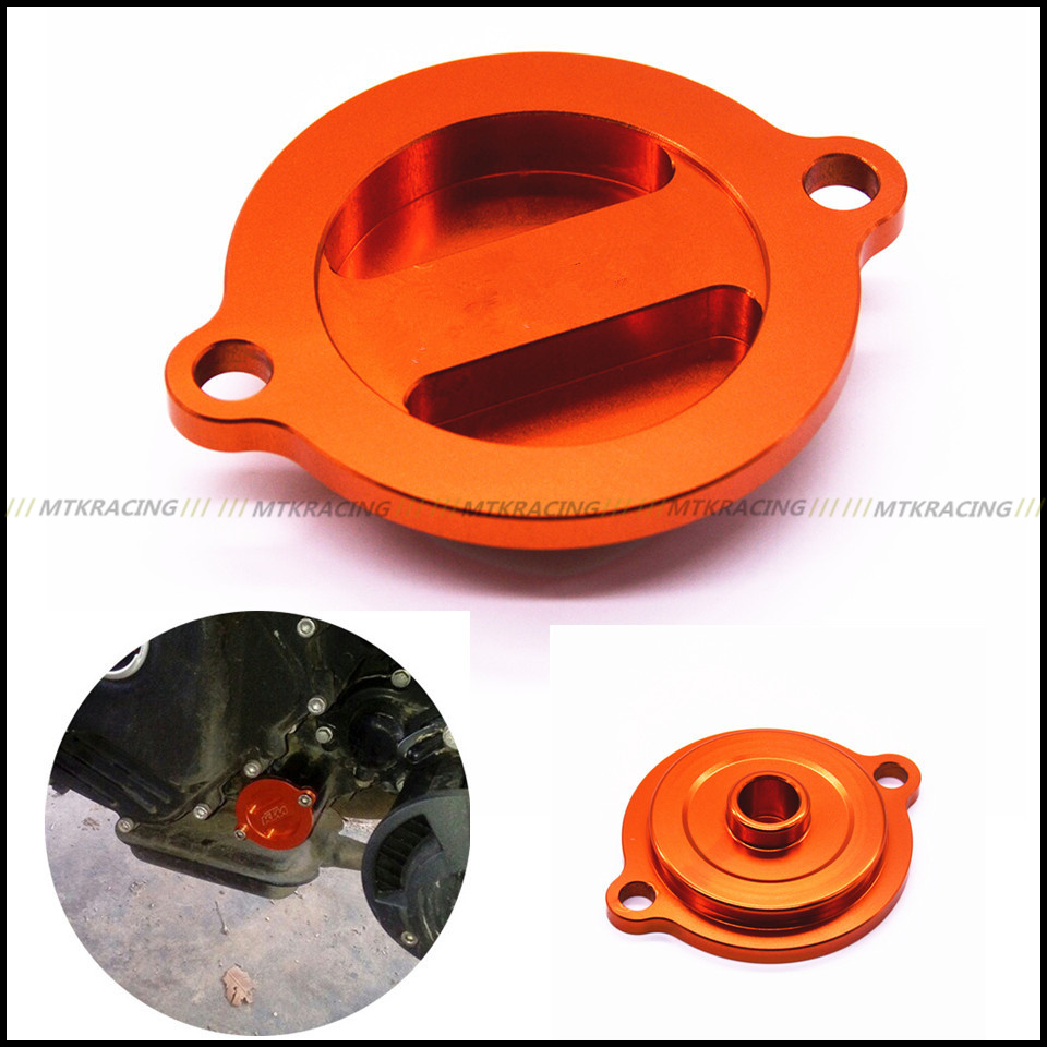 CNC Aluminum Engine Oil Filter Cover Cap Universal For KTM logo DUKE 200 390 690 690 SMC/R RC200 390 Motorcycle Accessories universal motorcycle accessories gear shifter shoe case cover protector for ktm duke 125 200 390 690 990 350 1290 adventure exc