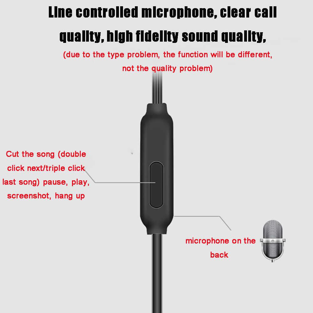 3.5mm tłok Dual-sterownik słuchawki douszne słuchawki Stereo zestaw słuchawkowy sportowe z mikrofonem słuchawki douszne słuchawki basowe wysokiej jakości telefony