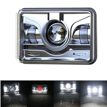 2Pcs 45W 4X6 Rectangular LED Headlight High Low Beam Sealed Replacement Lamp for H4651 H4652 H4656 H4666 H6545