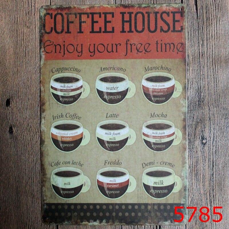 ... Vintage Retro Vintage Weißblech Metall Blechschilder Wand Dekor Garage  Club Scheune Parlor Schlafzimmer Plaques 20X30 CM