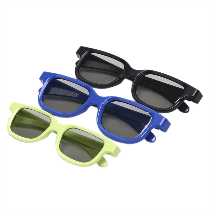 5pcs Circular Polarized Passive 3D Stereo Glasses Black For 3D TV Real D IMAX Cinemas(China)