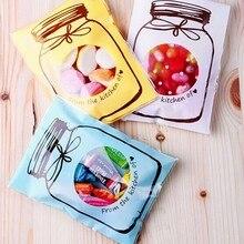 50/100 шт., пакеты для упаковки печенья и конфет