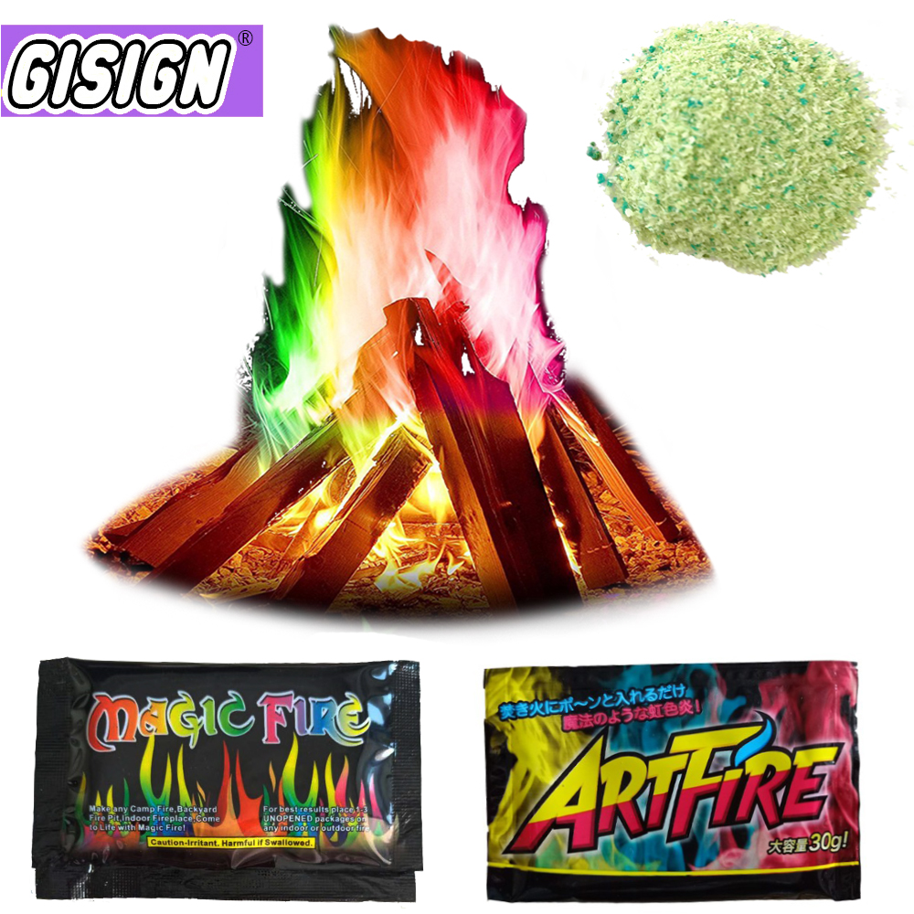 Magic Tricks Fireplace Patio-Toy Illusion Coloured Flames Pyrotechnics Sachets Pit