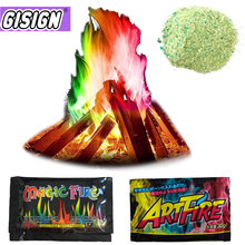 Mystical Fire Magic Tricks Coloured Flames Bonfire Sachets Fireplace Pit Patio Toy Professional Magicians illusion Pyrotechnics
