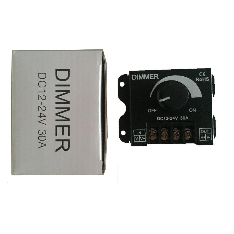 30A DC 12V-24V LED Dimmer Adjustable Brightness Controller For Single Color 5050 3528 5730 5630 LED Strip Light