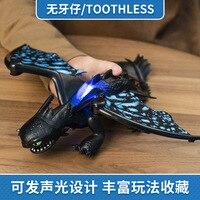 Действие Беззубик драконы Stormfly Hookfang Дракон домашних животных со звуком и светом от Как приручить дракона 3 Легкий яростный Беззубик