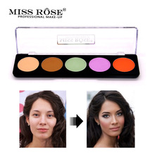 Miss Rose Brand Face 5 Colors Concealer Cream Makeup Palette Waterproof Natural Brighten Foundation Concealer Palette mini 15 colors face concealer camouflage cream contour palette makeup foundation facial face cream concealer palette cosmetic