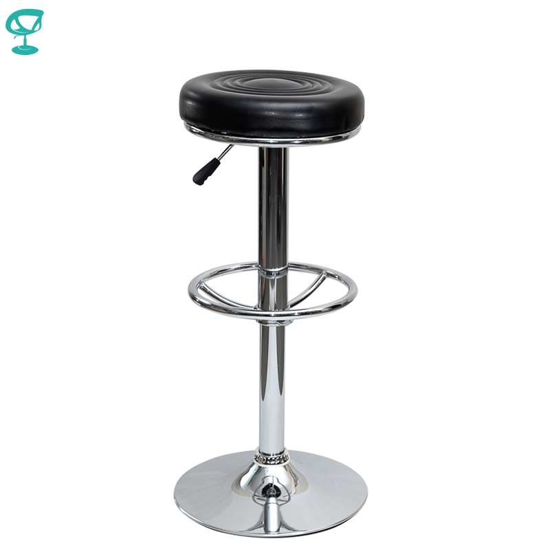 94782 Barneo N-128 Leather Kitchen Breakfast Bar Stool Swivel Bar Chair Black Color Free Shipping In Russia