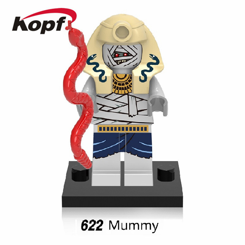 Single Sale Building Blocks Mummy Pharaoh Medieval Egyptian Warrior Super Hereos Bricks Action Figures Toys for children XH 622