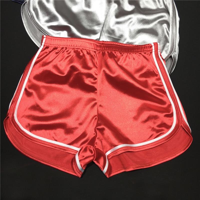 Womens Slim satin Shorts Sporting Shorts Elastic Waist Female Home Casual Short Feminino Summer Fitness Shorts