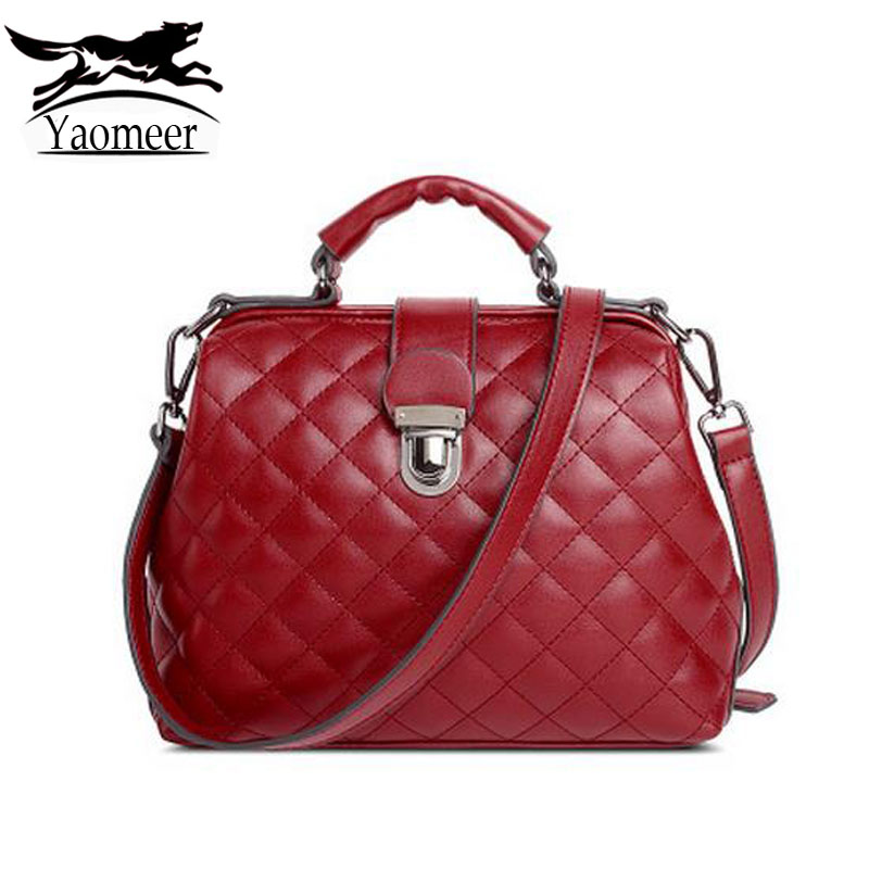 Luxury Italian Pu Leather Designer Handbags Quilted Crossbody Bags For Women Shoulder Bag Female Totes High Quality Red Bags