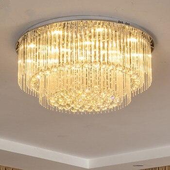 Modern LED Crystal Bulat Besar Lampu Langit-langit untuk Ruang Tamu Kamar Tidur Dekorasi Lampu Langit-langit Indoor Perlengkapan Pencahayaan